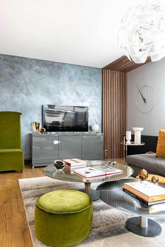 Vista de un salón con un estupendo mueble para la televisión